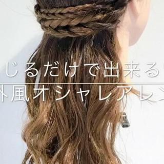 女子会 アウトドア セミロング オフィス ヘアスタイルや髪型の写真・画像