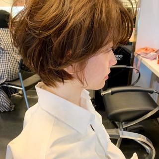 小顔ヘア 大人かわいい 透明感カラー ふわふわ ヘアスタイルや髪型の写真・画像