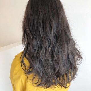 セミロング 外国人風 外国人風カラー グレージュ ヘアスタイルや髪型の写真・画像