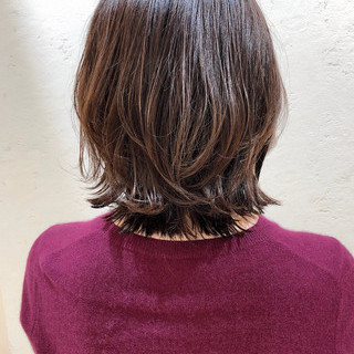 デジタルパーマ 前髪パーマ ウルフカット ボブ ヘアスタイルや髪型の写真・画像