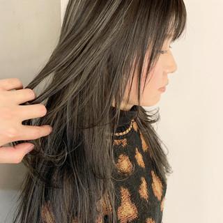 コントラストハイライト ハイライト ホワイトハイライト ロング ヘアスタイルや髪型の写真・画像