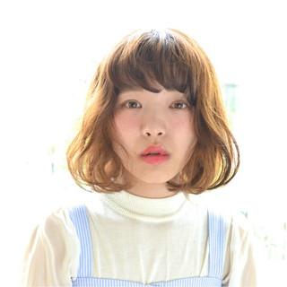 ボブ 抜け感 ワイドバング ピュア ヘアスタイルや髪型の写真・画像