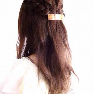 フェミニン 三つ編み ゆるふわ モテ髪 ヘアスタイルや髪型の写真・画像
