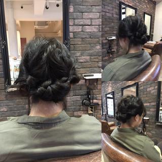 アッシュ 暗髪 ショート セミロング ヘアスタイルや髪型の写真・画像
