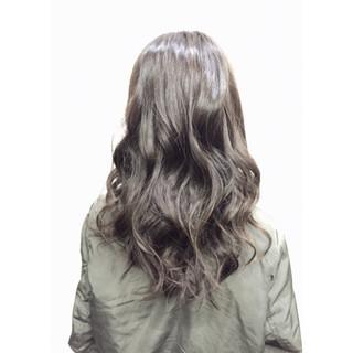 ロング ハイライト 渋谷系 ガーリー ヘアスタイルや髪型の写真・画像
