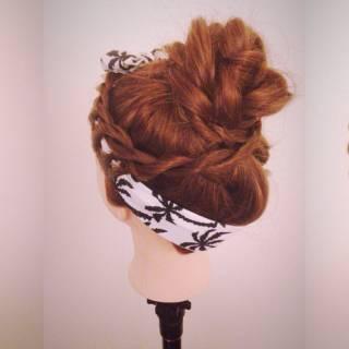 ヘアアレンジ ストリート パンク お団子 ヘアスタイルや髪型の写真・画像