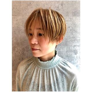 似合わせ 小顔 ショート マッシュ ヘアスタイルや髪型の写真・画像