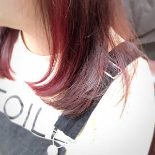 ガーリー ピンク 清楚 インナーカラー ヘアスタイルや髪型の写真・画像
