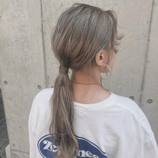 セミロング 外国人風 ヘアアレンジ 表参道 ヘアスタイルや髪型の写真・画像