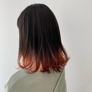 春 ロング グラデーションカラー グラデーション ヘアスタイルや髪型の写真・画像
