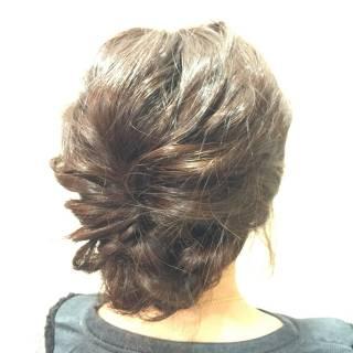 セミロング 愛され ヘアアレンジ ガーリー ヘアスタイルや髪型の写真・画像