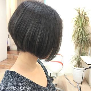 外国人風 ボブ モード 丸顔 ヘアスタイルや髪型の写真・画像