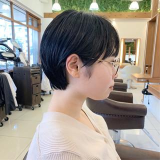 大人可愛い ショートヘア 黒髪 ふんわり ヘアスタイルや髪型の写真・画像