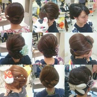 着物 ヘアアレンジ 夜会巻 エレガント ヘアスタイルや髪型の写真・画像 ヘアスタイルや髪型の写真・画像