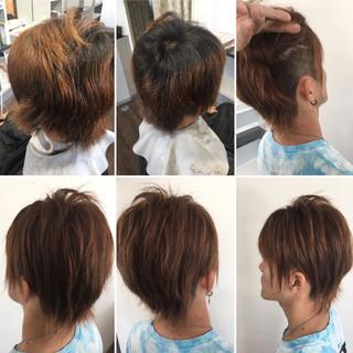 ツーブロック ショート ストリート ショートヘア ヘアスタイルや髪型の写真・画像