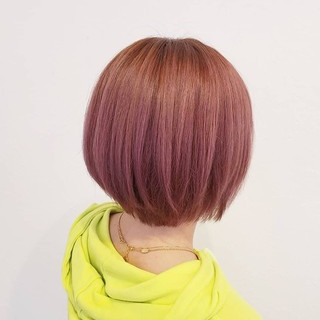 透明感 デート ボブ ガーリー ヘアスタイルや髪型の写真・画像