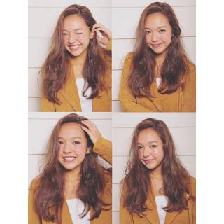 外国人風 ガーリー ラベンダーアッシュ ロング ヘアスタイルや髪型の写真・画像 ヘアスタイルや髪型の写真・画像