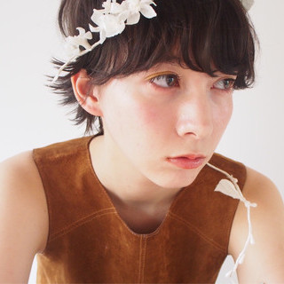 パーマ 前髪パーマ デジタルパーマ 無造作 ヘアスタイルや髪型の写真・画像