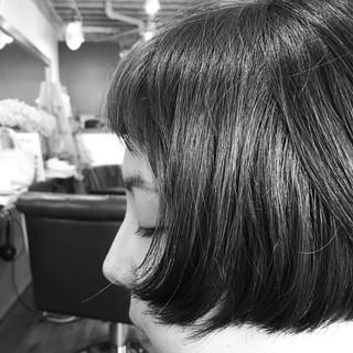 ストリート ショートバング アッシュ ショート ヘアスタイルや髪型の写真・画像