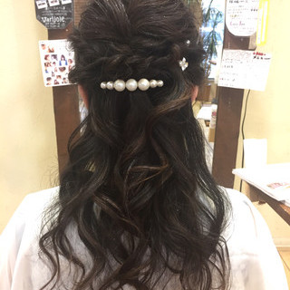 ヘアアレンジ ハーフアップ ゆるふわセット 結婚式 ヘアスタイルや髪型の写真・画像 ヘアスタイルや髪型の写真・画像