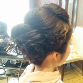 ヘアアレンジ 編み込み ロング ブライダル ヘアスタイルや髪型の写真・画像 ヘアスタイルや髪型の写真・画像