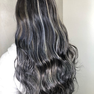 ロング 外国人風カラー アウトドア ハイライト ヘアスタイルや髪型の写真・画像