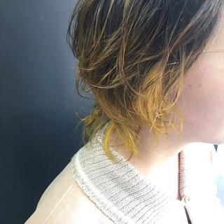 モード ミディアム ゆるふわ パーマ ヘアスタイルや髪型の写真・画像