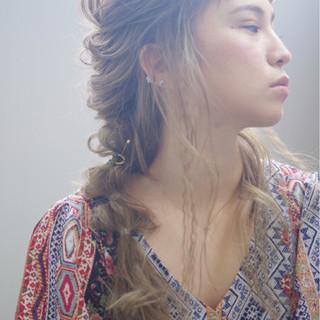 簡単ヘアアレンジ ギブソンタック ロング ストリート ヘアスタイルや髪型の写真・画像