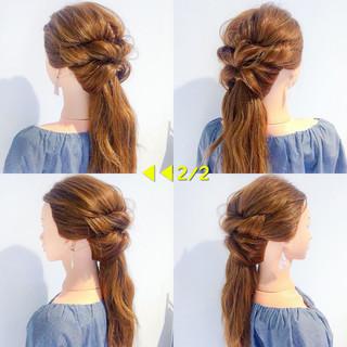 デート アウトドア ヘアアレンジ 簡単ヘアアレンジ ヘアスタイルや髪型の写真・画像