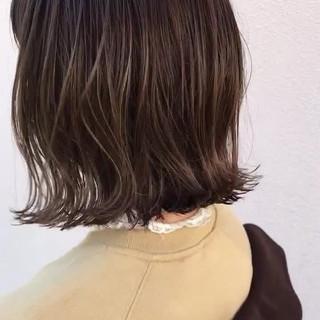 ロブ ナチュラル ハイライト ボブ ヘアスタイルや髪型の写真・画像