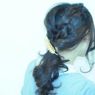 ヘアアレンジ ストリート ナチュラル 暗髪 ヘアスタイルや髪型の写真・画像
