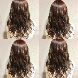 ピンク ピンクアッシュ ナチュラル 透明感カラー ヘアスタイルや髪型の写真・画像