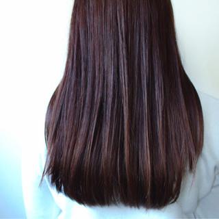 ナチュラル ロング ラベンダー ラベンダーピンク ヘアスタイルや髪型の写真・画像