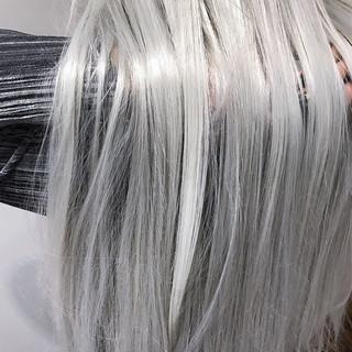 ハイトーン 透明感 外国人風カラー フェミニン ヘアスタイルや髪型の写真・画像