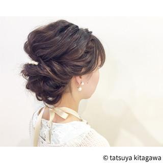 結婚式 セミロング 外国人風 女子会 ヘアスタイルや髪型の写真・画像