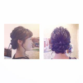 コンサバ モテ髪 編み込み 愛され ヘアスタイルや髪型の写真・画像