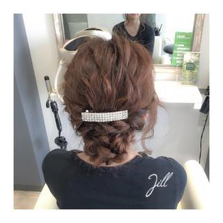 三つ編み ロング バレッタ 大人かわいい ヘアスタイルや髪型の写真・画像