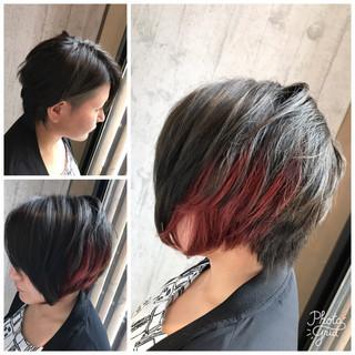 グレージュ モード ショート 秋 ヘアスタイルや髪型の写真・画像 ヘアスタイルや髪型の写真・画像
