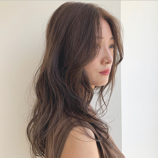 ナチュラル モテ髪 アディクシーカラー セミロング ヘアスタイルや髪型の写真・画像