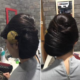 エレガント ロング 和装 ヘアアレンジ ヘアスタイルや髪型の写真・画像 ヘアスタイルや髪型の写真・画像