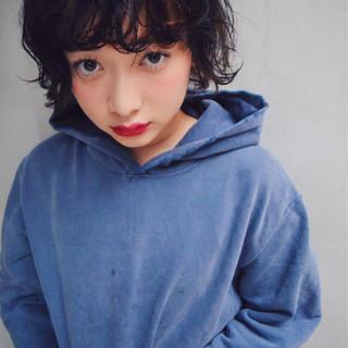 前髪あり ストリート 黒髪 簡単 ヘアスタイルや髪型の写真・画像