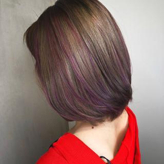フェミニン ハイライト アウトドア レッド ヘアスタイルや髪型の写真・画像