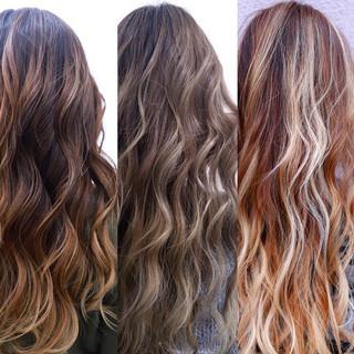 ヘアアレンジ ストリート バレイヤージュ 学生 ヘアスタイルや髪型の写真・画像