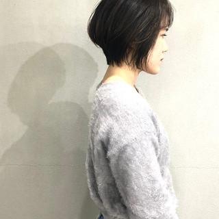 ショートヘア 簡単スタイリング ワンカールスタイリング ショート ヘアスタイルや髪型の写真・画像