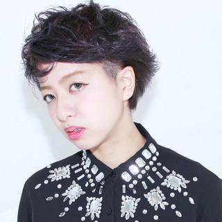 グレージュ 外国人風 モード 暗髪 ヘアスタイルや髪型の写真・画像