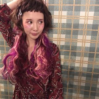 ヘアアレンジ エクステ ガーリー ショートバング ヘアスタイルや髪型の写真・画像 ヘアスタイルや髪型の写真・画像