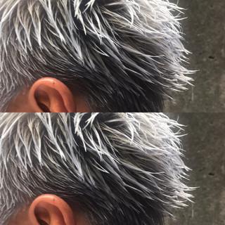ブリーチ ショート アッシュ ストリート ヘアスタイルや髪型の写真・画像