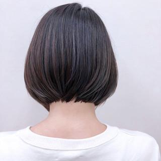 暗髪 大人かわいい ナチュラル ボブ ヘアスタイルや髪型の写真・画像 ヘアスタイルや髪型の写真・画像