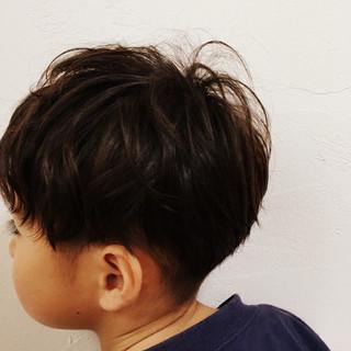 ストリート ボーイッシュ パーマ 子供 ヘアスタイルや髪型の写真・画像