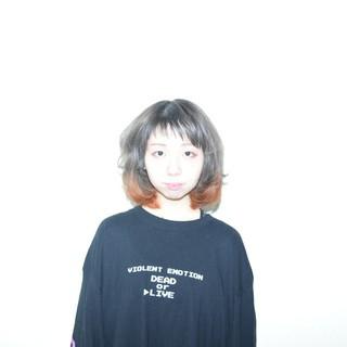 ミニボブ ブリーチ ボブ ガーリー ヘアスタイルや髪型の写真・画像